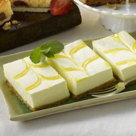 Tray Bake Lemon Cheese 24pc.