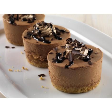 Individual Chocolate & Salted Caramel Cheesecake