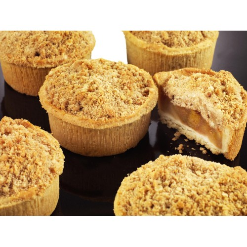Individual Apple & Rhubarb Crumble - Case of 12