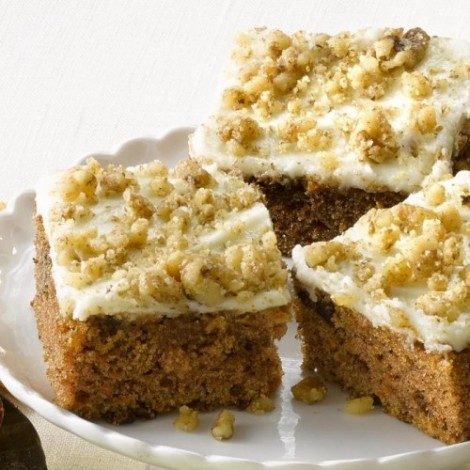 Tray Bake Carrot Cake 24pc.
