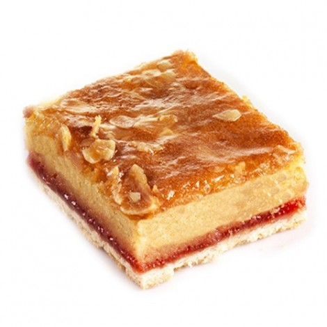 Tray Bake Strawberry Bakewell 24pc.