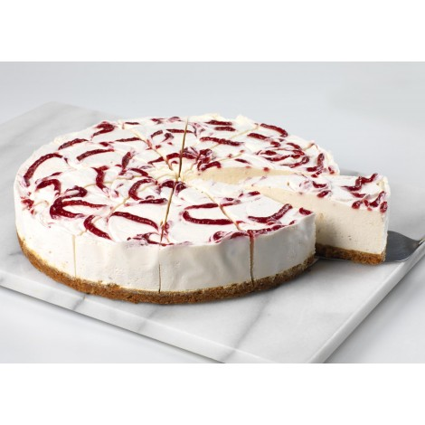 White Choc & Rasp Cheesecake