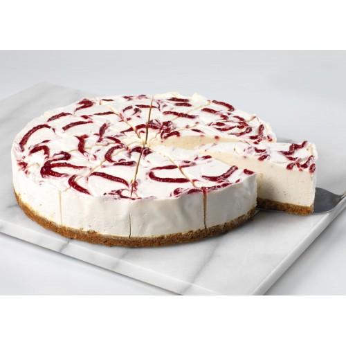 White Choc & Rasp Cheesecake